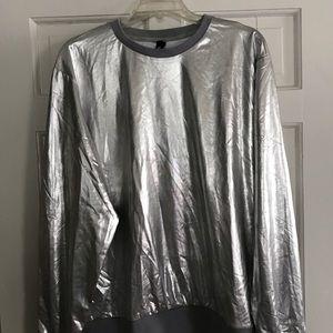 Jogal Men's Metallic Crew Neck Shirt
